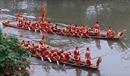 Làng hoa Tây Tựu bỗng chốc rộn rã trong lễ hội bơi Đăm truyền thống