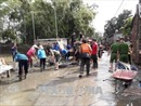 Hà Nội nỗ lực dọn dẹp vùng ngập nước tại Chương Mỹ