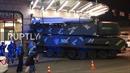 Xe chở tên lửa Buk của Ukraine mất lái, đâm thẳng vào tòa nhà