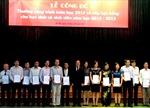 Công bố giải thưởng Công trình toán học năm 2013