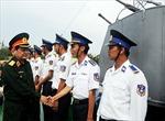 Thượng tướng Nguyễn Thành Cung làm việc với Bộ Tư lệnh Cảnh sát biển
