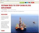 Báo Đức đưa tin về hành động khiêu khích của Trung Quốc ở Biển Đông