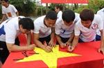 Vận động viên Việt Nam hướng về biển đảo Tổ quốc