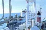 Khắc phục lỗ thủng trên tàu Cảnh sát Biển bị tàu Trung Quốc đâm