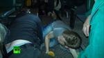 Bên trong chiếc xe buýt nơi phóng viên Nga bị bắn chết