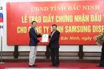 Trao chứng nhận đầu tư dự án 1 tỷ USD cho Samsung Display