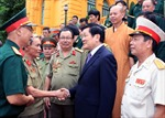 Chủ tịch nước tiếp cựu chiến binh bảo vệ biên giới phía bắc