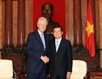 Chủ tịch nước tiếp cựu Tổng thống Hoa Kỳ Bill Clinton