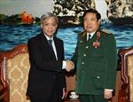 Đại tướng Phùng Quang Thanh tiếp Thư ký thường trực Bộ Quốc phòng Singapore