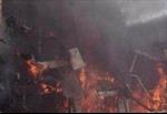 Nổ cháy tại nhà hàng Sườn Cây, thực khách hoảng loạn