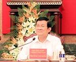 Chủ tịch nước Trương Tấn Sang làm việc tại Ninh Bình