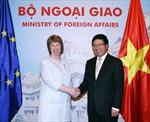 Phó Thủ tướng, Bộ trưởng Ngoại giao Phạm Bình Minh hội đàm với Phó Chủ tịch Ủy ban châu Âu