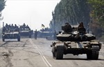 Binh sĩ Ukraine tiến vào thành phố Lugansk?