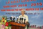 Tổng Bí thư Nguyễn Phú Trọng dự Lễ khai giảng năm học mới