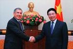 Phó Thủ tướng Phạm Bình Minh tiếp Tổng thống CH Tatarstan thuộc Nga