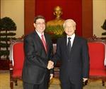 Tổng Bí thư Nguyễn Phú Trọng tiếp Bộ trưởng Ngoại giao Cuba