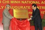 Tổng thống Ấn Độ thăm Học viện Chính trị Quốc gia Hồ Chí Minh