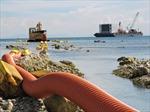 Đấu nối thành công cáp ngầm xuyên biển với đảo Lý Sơn