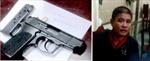 Bắt đối tượng 'múa súng' đe dọa cán bộ quận