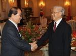 Tổng Bí thư Nguyễn Phú Trọng tiếp đoàn đại biểu Hội hữu nghị Hàn-Việt