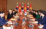 Tổng Bí thư Nguyễn Phú Trọng hội đàm với Tổng thống Hàn Quốc