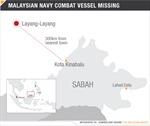 Tàu tấn công của Hải quân Malaysia mất tích