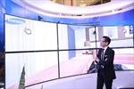 Không gian nội thất thực tế ảo với TV màn hình cong