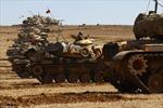 Xe tăng NATO dàn trận tại biên giới Thổ Nhĩ Kỳ