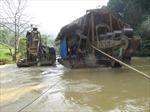 Cần xử lý tình trạng khai thác cát trái phép dọc sông Cầu
