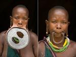 Choáng với tộc người đeo 'đĩa môi' lớn nhất thế giới