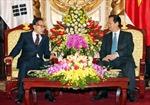 Thủ tướng Nguyễn Tấn Dũng tiếp nguyên Tổng thống Hàn Quốc