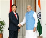 Thủ tướng Nguyễn Tấn Dũng hội đàm với Thủ tướng Ấn Độ