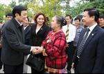 Chủ tịch nước Trương Tấn Sang dự Ngày hội Đại đoàn kết dân tộc
