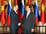 Thủ tướng Nguyễn Tấn Dũng hội kiến Chủ tịch Duma Quốc gia Nga