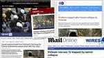 Báo chí quốc tế đưa đậm tin cuộc giải cứu 12 công nhân