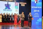 63 doanh nghiệp đạt Thương hiệu quốc gia 2014