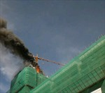 Cháy công trình khu tái định cư Bình Khánh