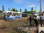 6 hành khách bị thương trong vụ xe container húc xe giường nằm