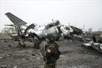 Cảnh hoang tàn tại sân bay Donetsk sau xung đột