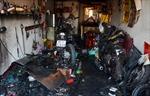 'Bà hỏa' thiêu rụi tiệm sửa xe máy