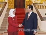 Thủ tướng Nguyễn Tấn Dũng tiếp Chủ tịch Quốc hội Singapore