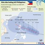 Siêu bão hướng tới Philippines