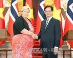Thủ tướng Nguyễn Tấn Dũng hội đàm với Thủ tướng Na Uy Erna Solberg
