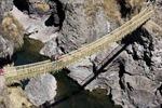 Hút khách du lịch nhờ cây cầu bện bằng cỏ vắt qua vực núi