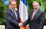 Chủ tịch Cuba hội đàm Tổng thống Pháp