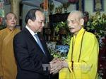 Chúc mừng Pháp chủ Giáo hội Phật giáo Việt Nam nhân Đại lễ Phật đản