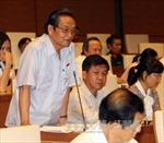 Thảo luận về quyết toán ngân sách nhà nước năm 2013