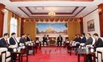 Lãnh đạo Lào tiếp đoàn đại biểu Văn phòng Trung ương Đảng