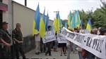 Biểu tình phản đối Mỹ can thiệp nội bộ Ukraine tại Kiev