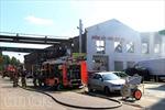 Cháy lớn thiêu rụi kho hàng, xưởng ô tô của người Việt ở Berlin